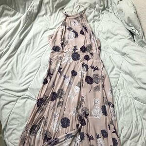 Lavender Purple Flower Midi/Maxi Dress